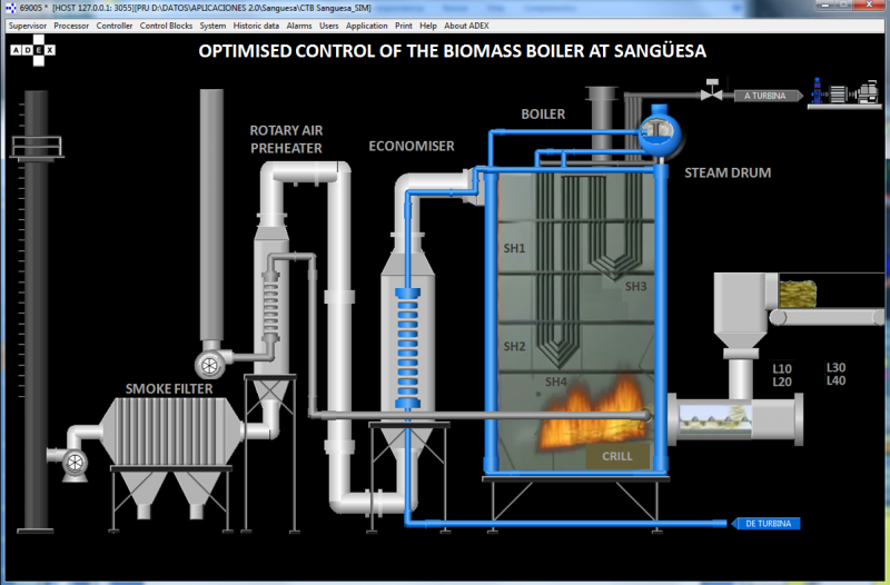 Optimized Adaptive Control For A Biomass Plant Industries Adex